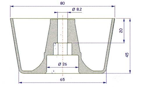 PFC05 -PPCA01-PFC05 - Pied de meuble - Bouiller Plastiques